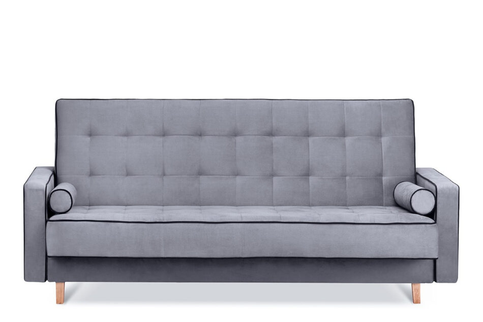 DOZER Szara sofa 3 osobowa z funkcją spania szary/czarny - zdjęcie 0