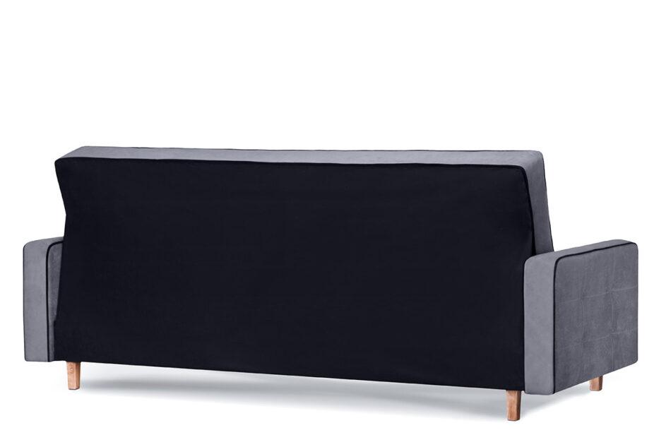 DOZER Szara sofa 3 osobowa z funkcją spania szary/czarny - zdjęcie 4