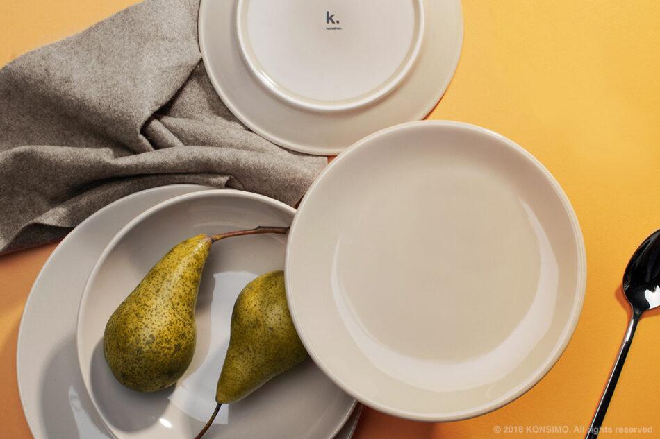 LUPIN Zestaw obiadowy dla 12 osób beżowy beżowy - zdjęcie 5