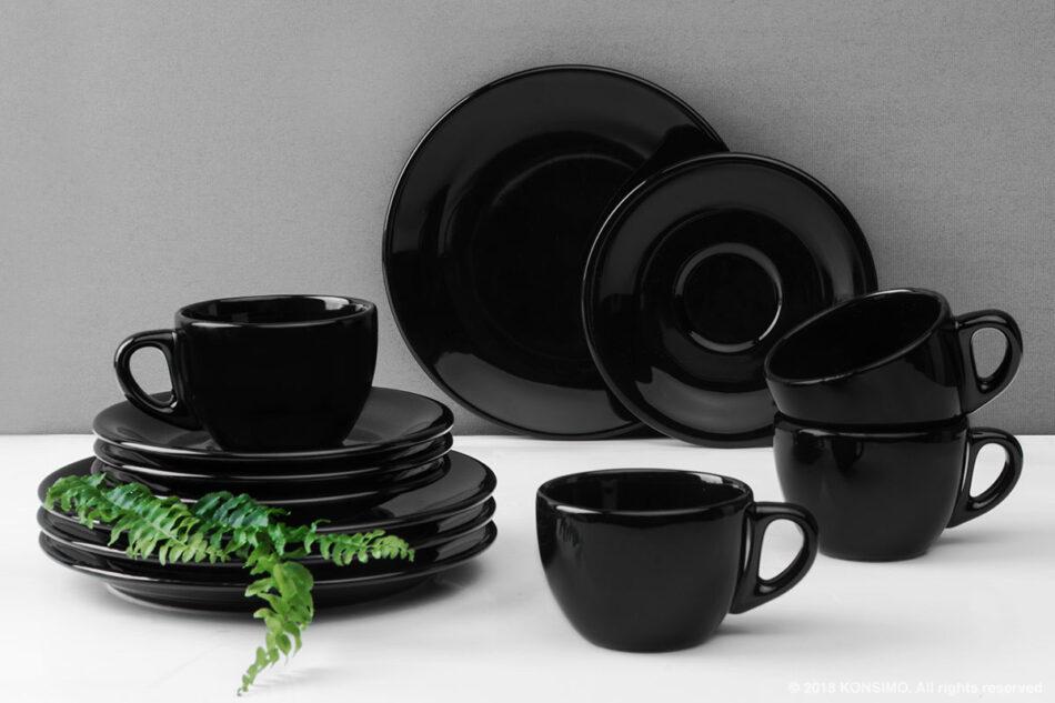 LUPIN Zestaw kawowy dla 4 osób czarny czarny - zdjęcie 0
