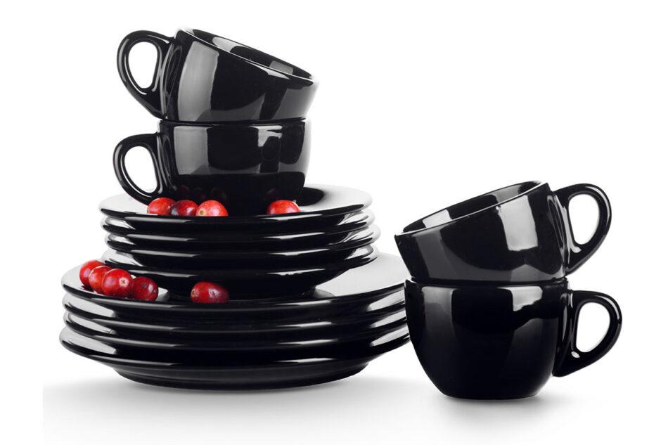 LUPIN Zestaw kawowy dla 4 osób czarny czarny - zdjęcie 1