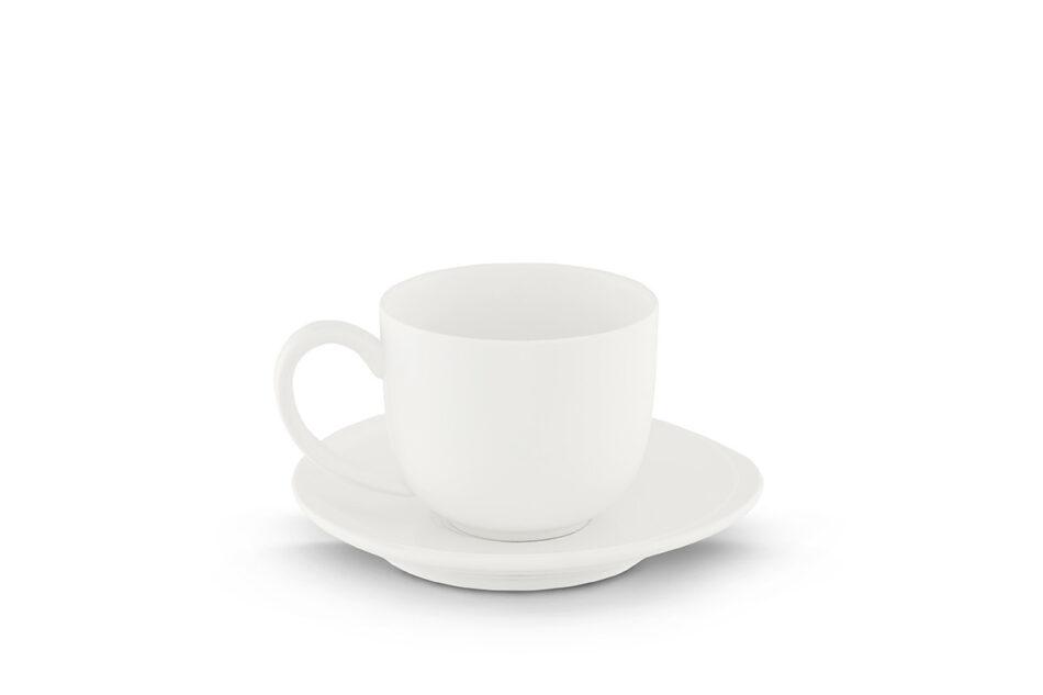 RESEDA Filiżanka do espresso ze spodkiem biały - zdjęcie 0