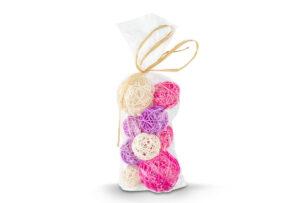 BRIZ, https://konsimo.pl/kolekcja/briz/ Kule dekoracyjne różowy/fioletowy/biały - zdjęcie