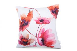 FLORE, https://konsimo.pl/kolekcja/flore/ Poszewka na poduszkę biały/różowy - zdjęcie