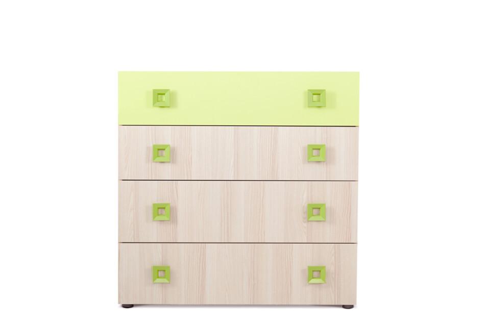FINKO Komoda z szufladami do pokoju dziecięcego jesion / zielona jesion/zielony - zdjęcie 1
