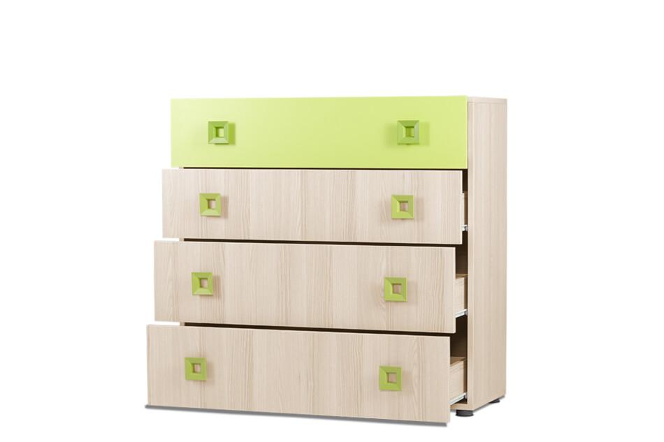 FINKO Komoda z szufladami do pokoju dziecięcego jesion / zielona jesion/zielony - zdjęcie 2