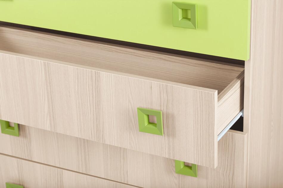 FINKO Komoda z szufladami do pokoju dziecięcego jesion / zielona jesion/zielony - zdjęcie 3