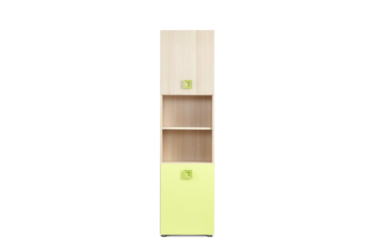 Regał z półkami 40 cm do pokoju dziecięcego jesion / zielony