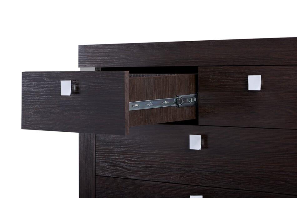 ENDIVE Klasyczna komoda z szufladami wenge wenge - zdjęcie 2