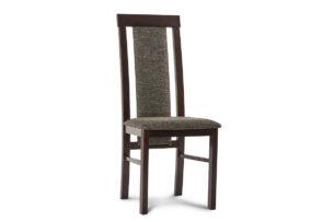 ECTIN, https://konsimo.pl/kolekcja/ectin/ Drewniane krzesło wenge tkanina pleciona szara wenge/brązowy - zdjęcie