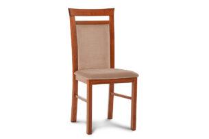 AMIRE, https://konsimo.pl/kolekcja/amire/ Klasyczne krzesło drewniane tapicerowane orzech/ciemny beż orzech jasny/ciemny beż - zdjęcie