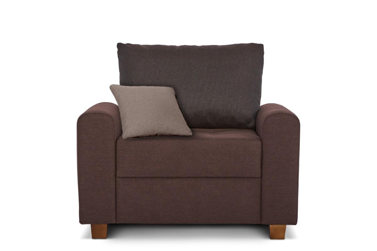 Fotel do salonu brązowy