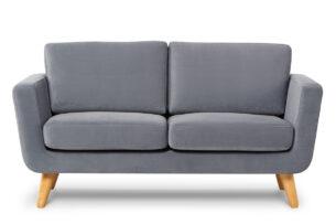 TAGIO, https://konsimo.pl/kolekcja/tagio/ Szara skandynawska sofa 2 osobowa szary - zdjęcie