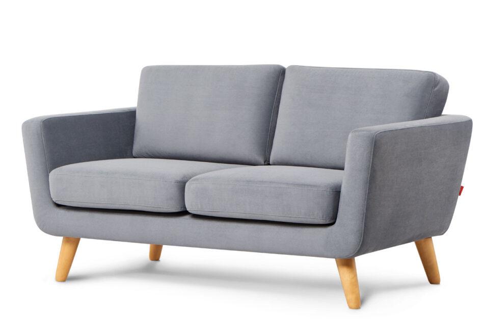 TAGIO Szara skandynawska sofa 2 osobowa szary - zdjęcie 1