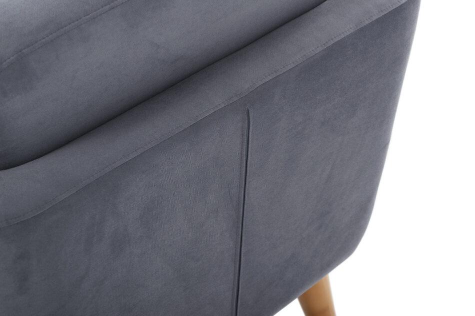 TAGIO Szara skandynawska sofa 2 osobowa szary - zdjęcie 4
