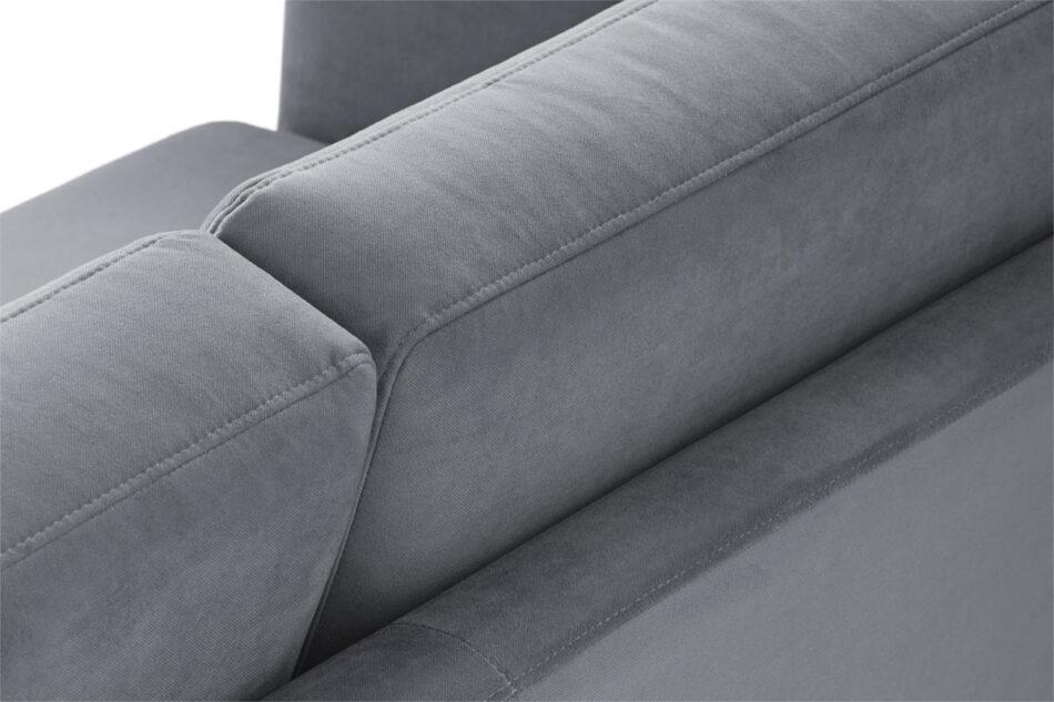 TAGIO Szara skandynawska sofa 2 osobowa szary - zdjęcie 6
