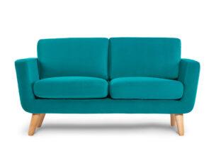 TAGIO, https://konsimo.pl/kolekcja/tagio/ Turkusowa skandynawska sofa 2 osobowa turkusowy - zdjęcie