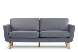 TAGIO, https://konsimo.pl/kolekcja/tagio/ Szara skandynawska sofa 3 osobowa szary - zdjęcie