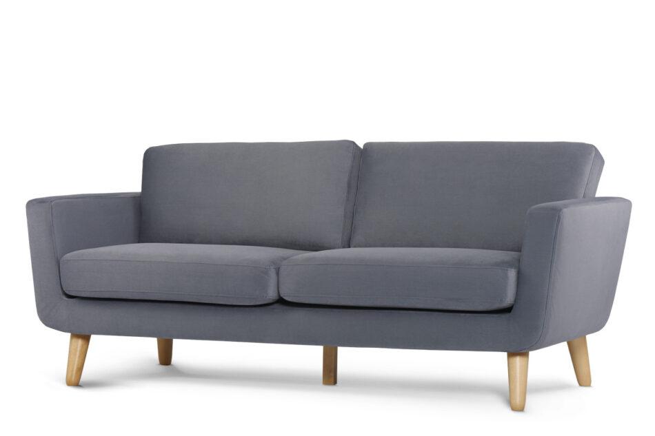 TAGIO Szara skandynawska sofa 3 osobowa szary - zdjęcie 1