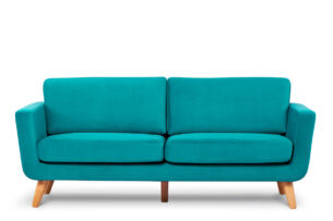 TAGIO, https://konsimo.pl/kolekcja/tagio/ Turkusowa skandynawska sofa 3 osobowa turkusowy - zdjęcie