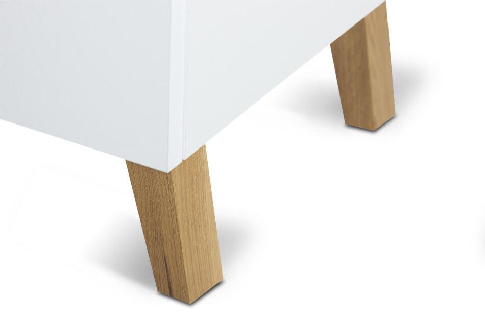 FRISK Biała komoda z szufladami skandynawska biały/dąb naturalny - zdjęcie 7