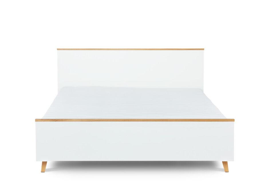FRISK Łóżko skandynawskie 140×200 biały/dąb naturalny - zdjęcie 0
