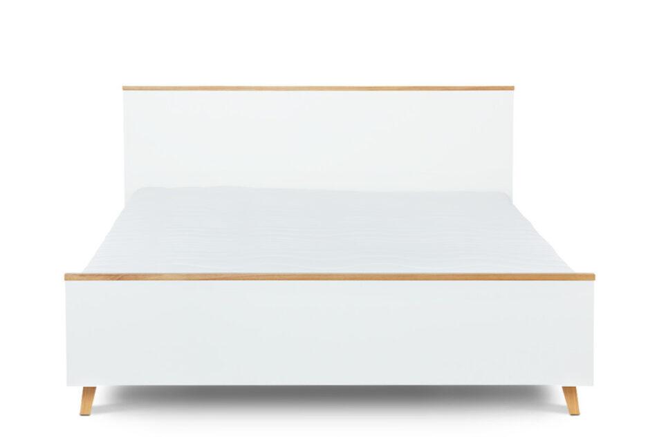 FRISK Łóżko skandynawskie 160x200 biały/dąb naturalny - zdjęcie 0