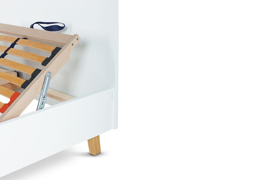 FRISK Łóżko skandynawskie 140×200 biały/dąb naturalny - zdjęcie 6