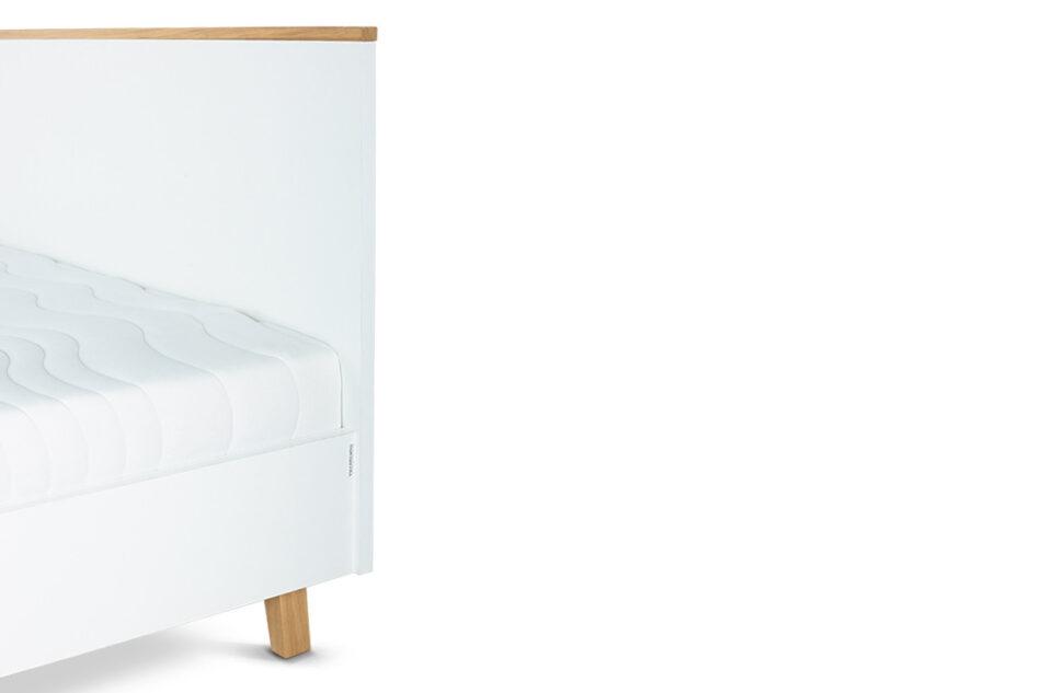 FRISK Łóżko skandynawskie 140×200 biały/dąb naturalny - zdjęcie 5