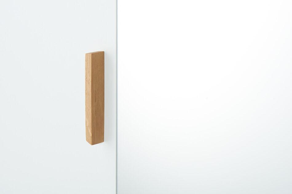 FRISK Biała szafa z lustrem w stylu skandynawskim biały/dąb naturalny - zdjęcie 10
