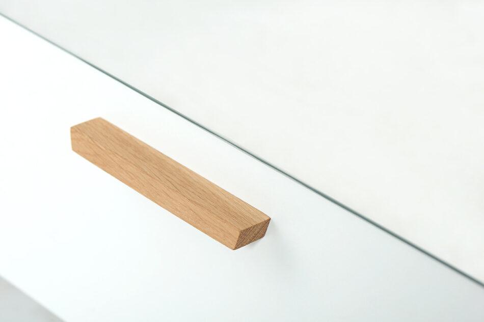 FRISK Biała szafa z lustrem w stylu skandynawskim biały/dąb naturalny - zdjęcie 11