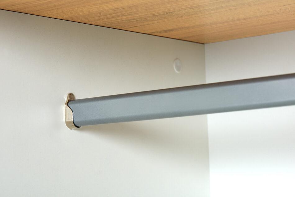 FRISK Biała szafa z lustrem w stylu skandynawskim biały/dąb naturalny - zdjęcie 9