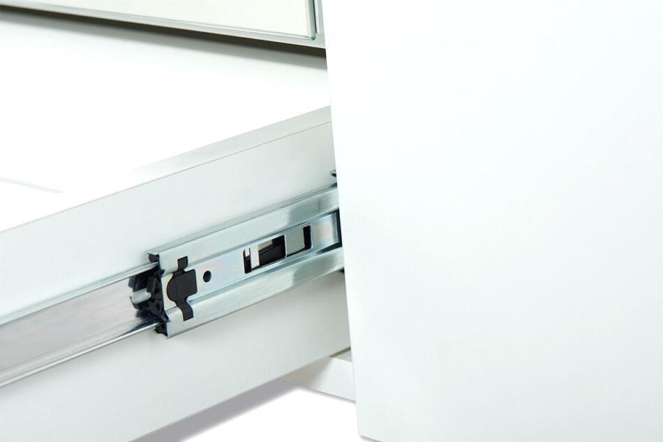 FRISK Biała szafa z lustrem w stylu skandynawskim biały/dąb naturalny - zdjęcie 12