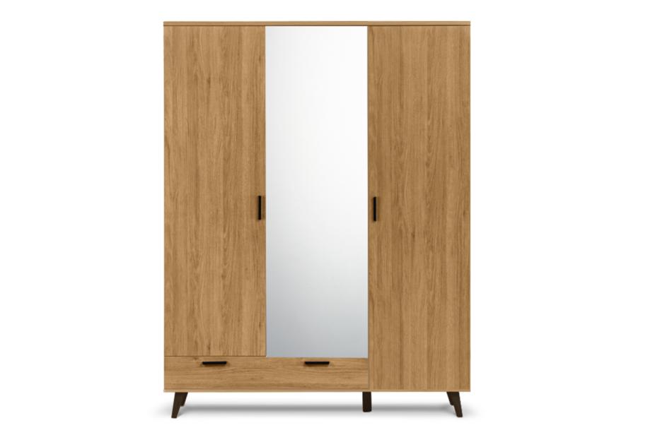 FRISK Szafa z lustrem do salonu w stylu skandynawskim dąb naturalny - zdjęcie 0