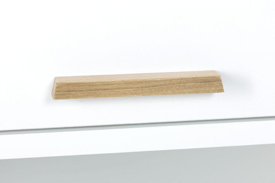 FRISK Biała meblościanka do salonu w stylu skandynawskim biały/dąb naturalny - zdjęcie 6