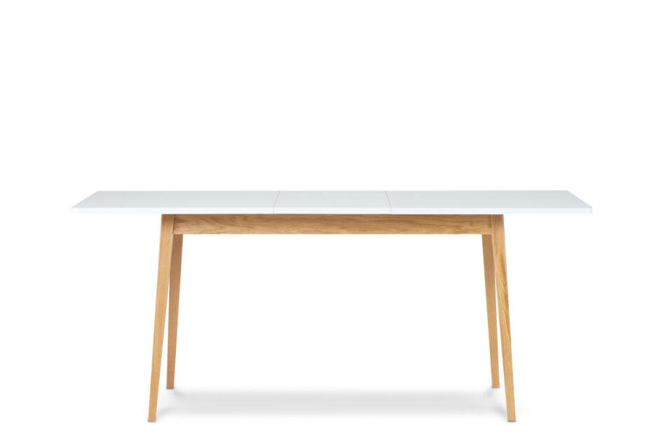 FRISK Biały rozkładany stół w stylu skandynawskim biały/dąb naturalny - zdjęcie 3