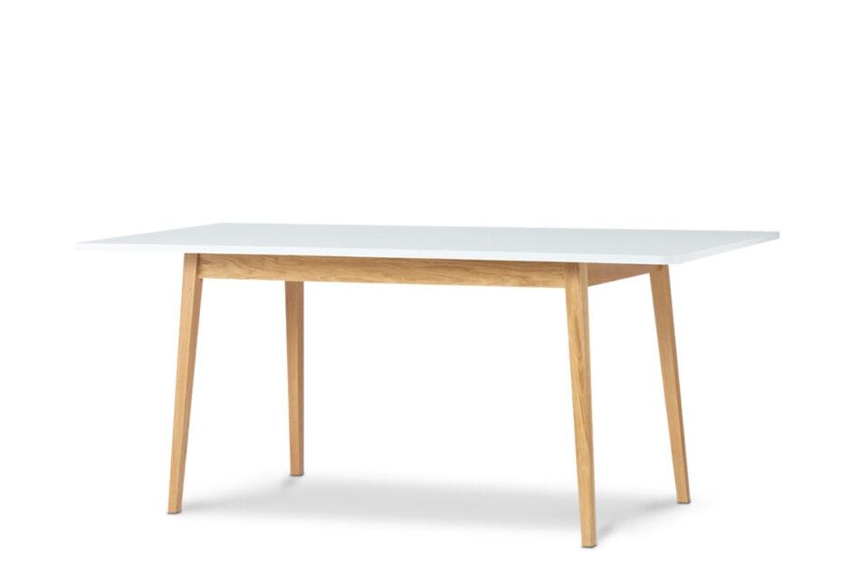 FRISK Biały rozkładany stół w stylu skandynawskim biały/dąb naturalny - zdjęcie 2