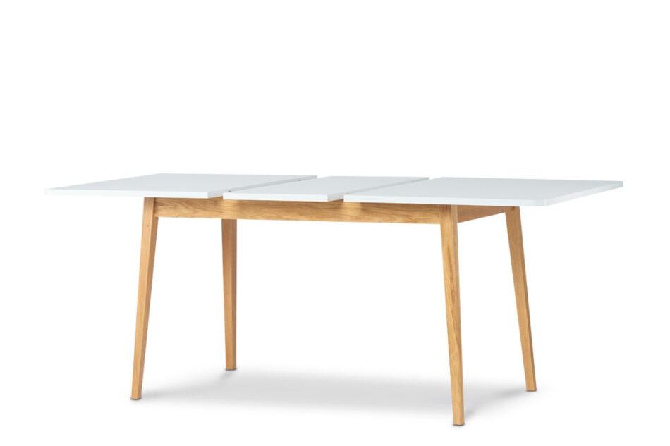 FRISK Biały rozkładany stół w stylu skandynawskim biały/dąb naturalny - zdjęcie 4