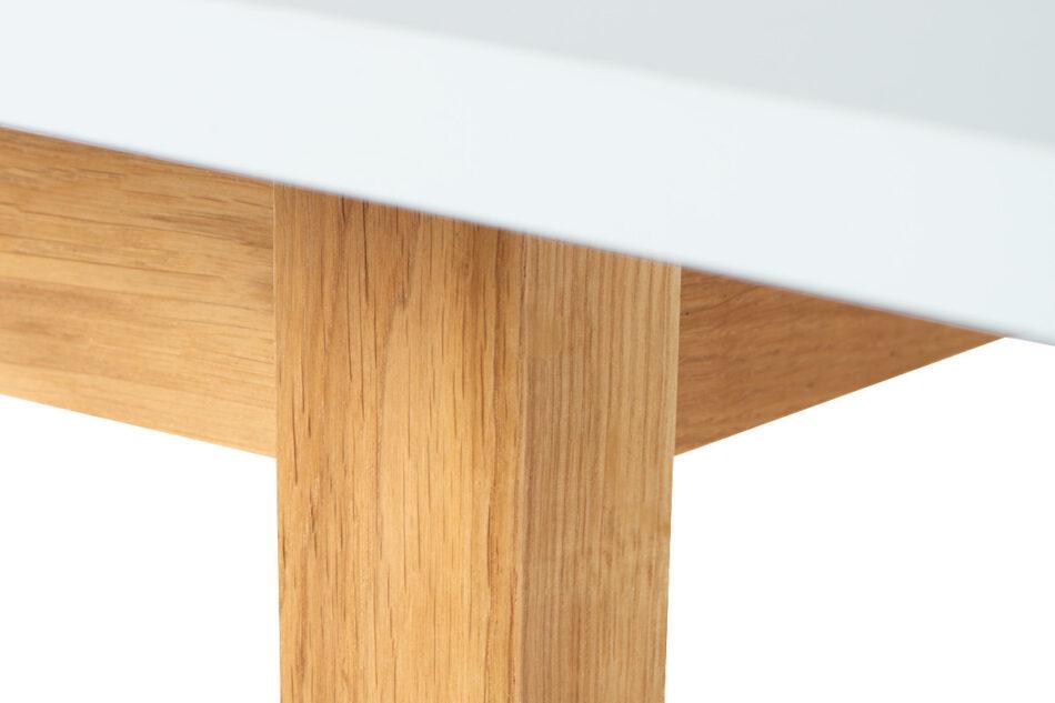 FRISK Biały rozkładany stół w stylu skandynawskim biały/dąb naturalny - zdjęcie 5