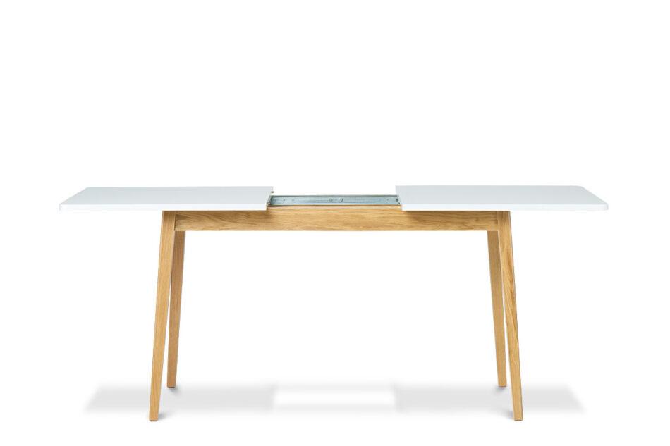 FRISK Biały stół skandynawski rozkładany biały/dąb naturalny - zdjęcie 3