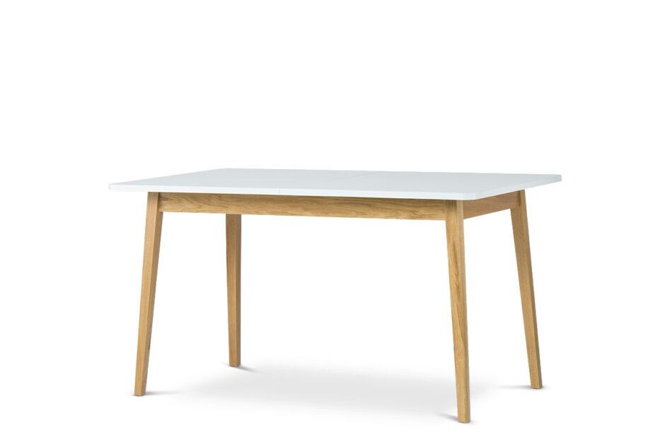 FRISK Biały stół skandynawski rozkładany biały/dąb naturalny - zdjęcie 2