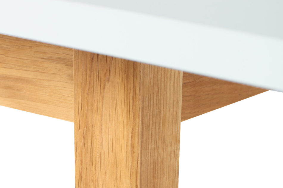 FRISK Biały stół skandynawski rozkładany biały/dąb naturalny - zdjęcie 8