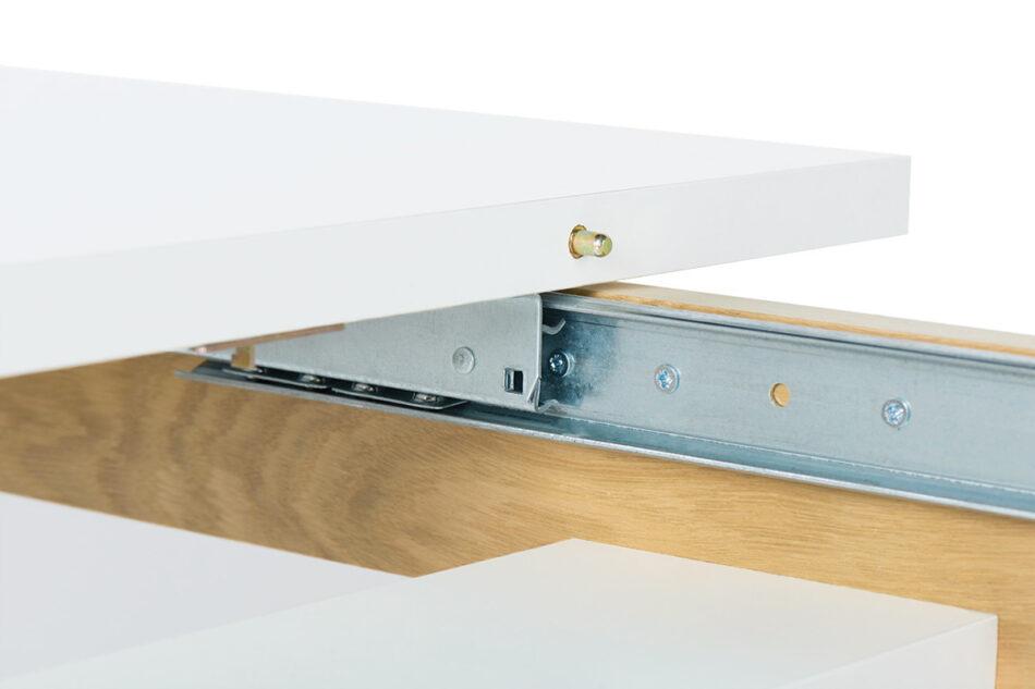 FRISK Biały stół skandynawski rozkładany biały/dąb naturalny - zdjęcie 7