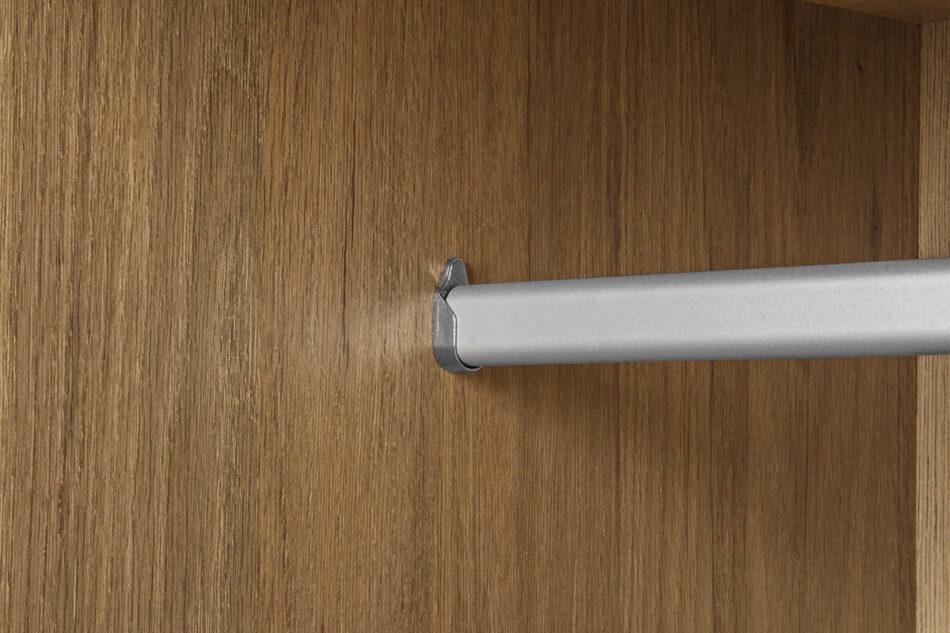 FRISK Szafa dwudrzwiowa z drewnianymi nóżkami dąb naturalny/antracyt - zdjęcie 7