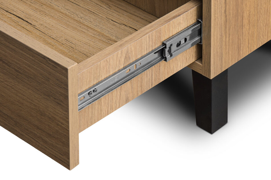FRISK Szafa dwudrzwiowa z drewnianymi nóżkami dąb naturalny/antracyt - zdjęcie 6