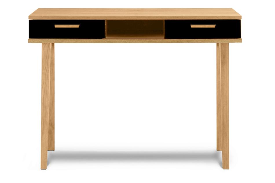FRISK Czarne biurko skandynawskie antracytowy/dąb naturalny - zdjęcie 0