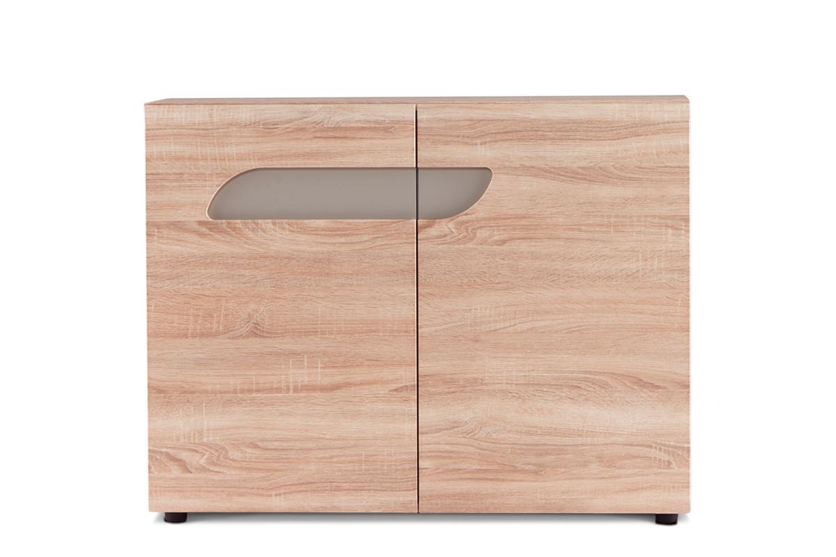Komoda z półkami 110 cm w stylu skandynawskim dąb szary