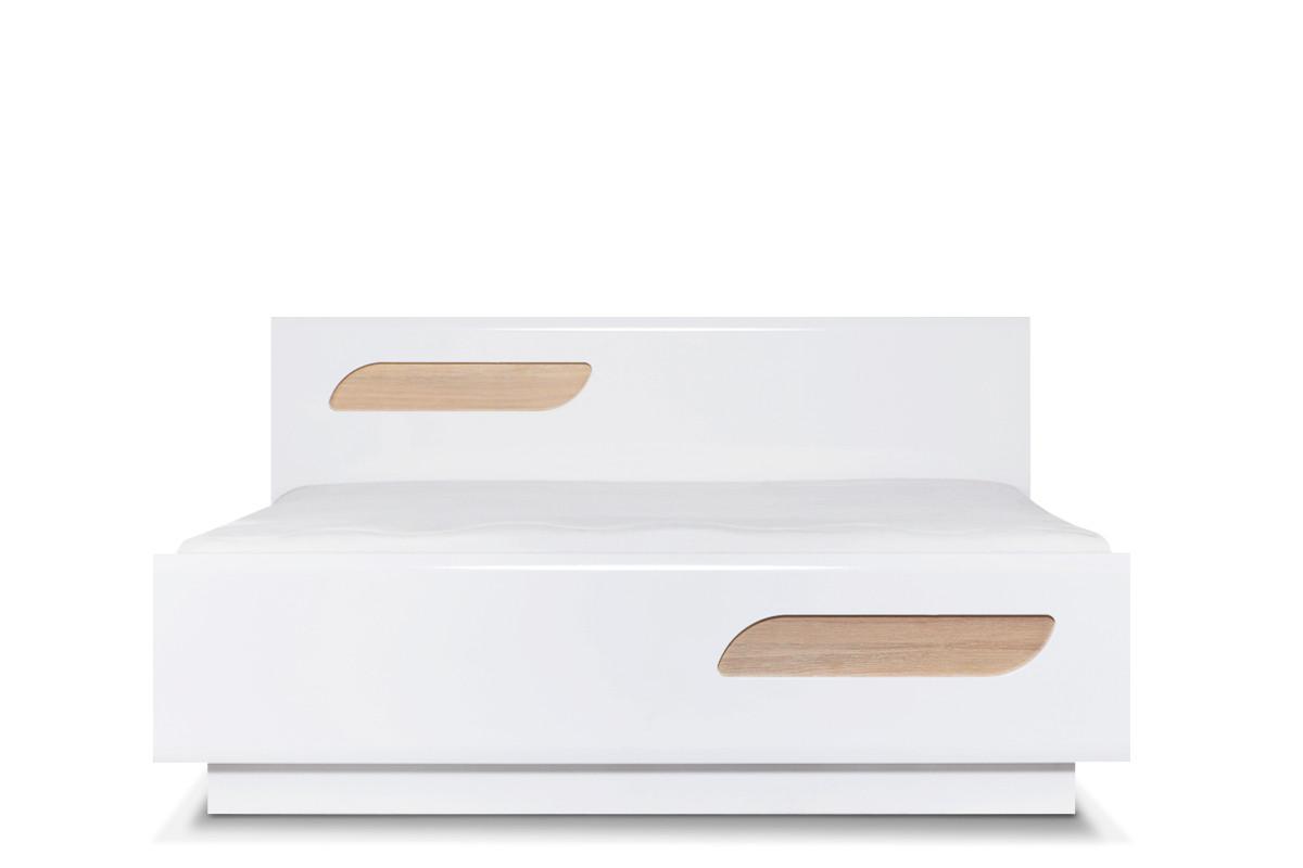 Podwójna rama łóżka 140 x 200 cm w stylu skandynawskim biała
