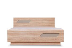 AVERO, https://konsimo.pl/kolekcja/avero/ Podwójna rama łóżka 140 x 200 cm w stylu skandynawskim dąb szary dąb/szarobeżowy - zdjęcie