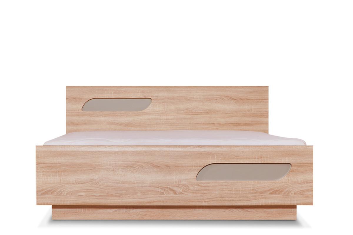 Podwójna rama łóżka 140 x 200 cm w stylu skandynawskim dąb szary